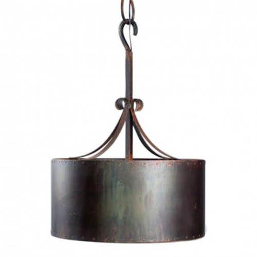 Copper Drum Pendant Light