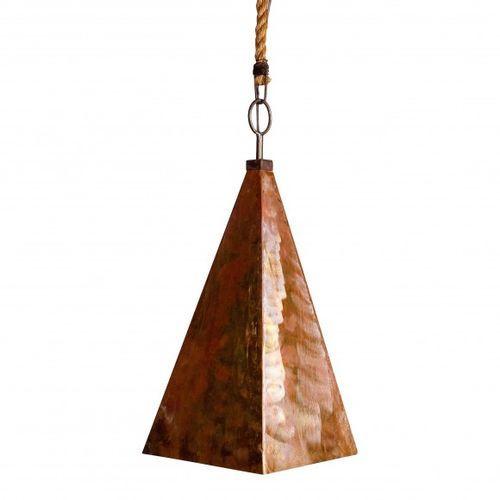 Copper Pyramid Pendant Light