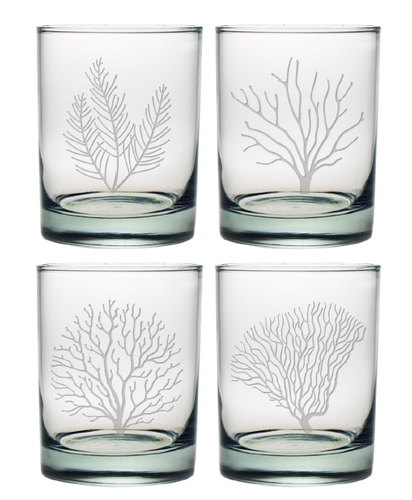 Coral Assortment DOR Glasses Set of Four