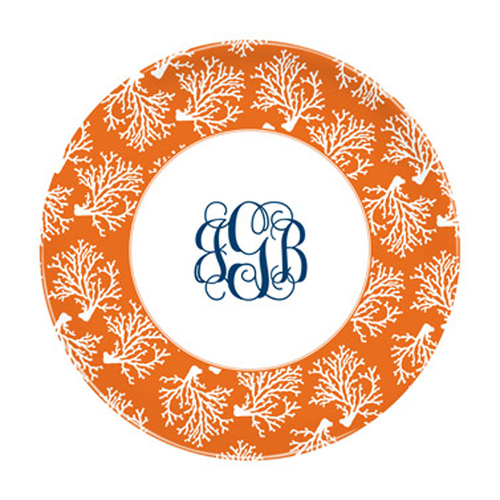 Coral Repeat Plates- Set of Four