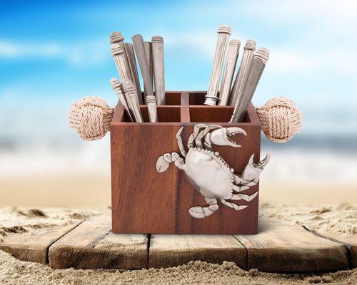 Nautical Crab Flatware Caddy