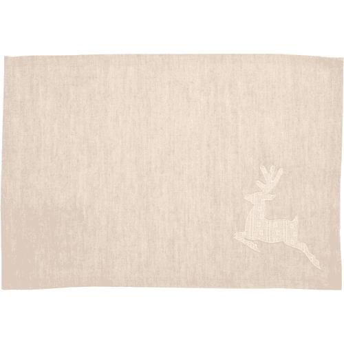 Creme Lace Deer Placemats Set of 6