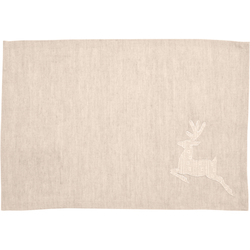 Creme Lace Deer Table Runner