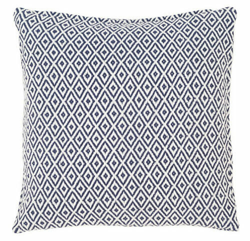 Crystal Navy/White Indoor/Outdoor Pillow 20% OFF