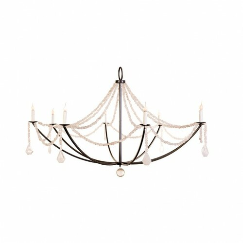 Crystal Nugget Drape Chandelier