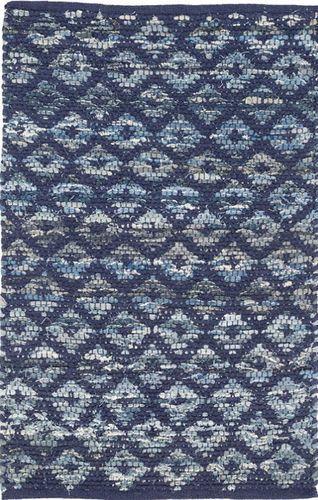 Denim Rag Diamond Indigo Cotton Rug<font color=a8bb35> 20% off</font>