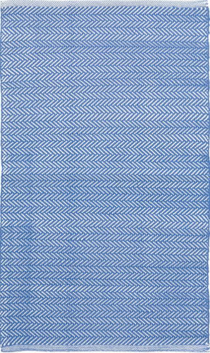 Herringbone French Blue Indoor/Outdoor Rug