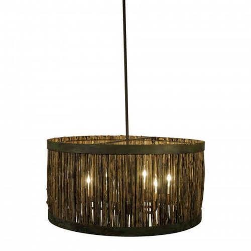 Daufuski Marsh Grass Drum Pendant Light