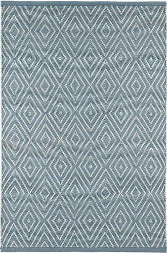 Diamond Slate and Light Blue Indoor/Outdoor Rug