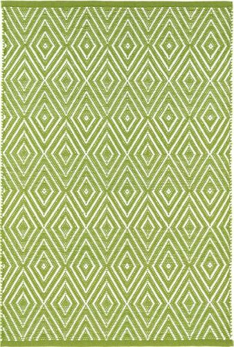 Diamond Sprout/White Indoor/Outdoor Rug
