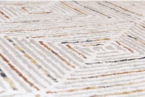 Diamond Stripe Hand Tufted Rug