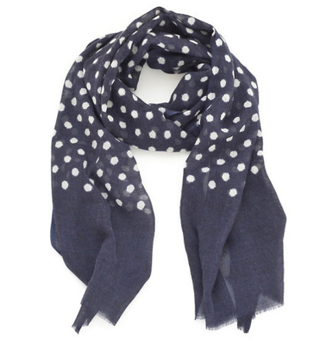 Navy Dots Beach Scarf<font color=cf2317> Sold Out</font>