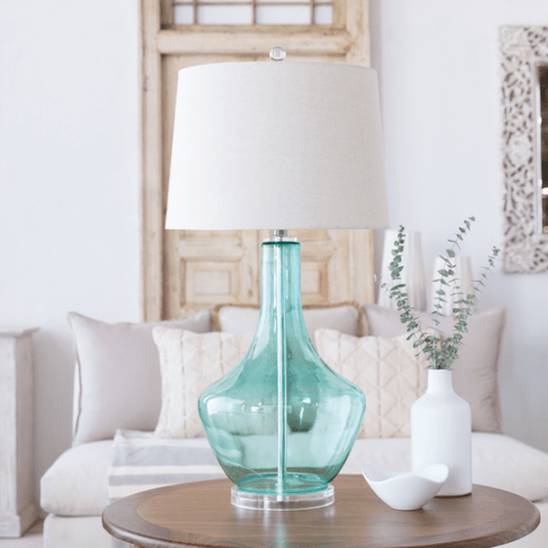 Easton Lamp in Aqua