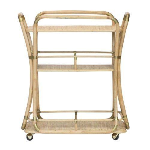Edith Bar Cart in Natural <font color=a8bb35>NEW</font>