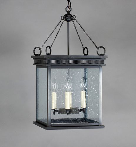 Elryan 4-Light Hanging Lantern with Clear Seedy Glass