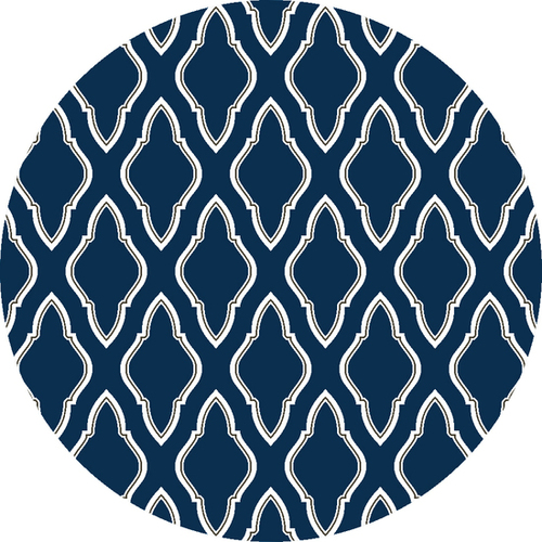 Fallon Dark Blue, Cream & Charcoal Flat Pile Rug