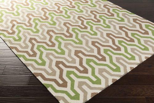 Fallon Driftwood Brown/Spruce Green Flat Pile Rug