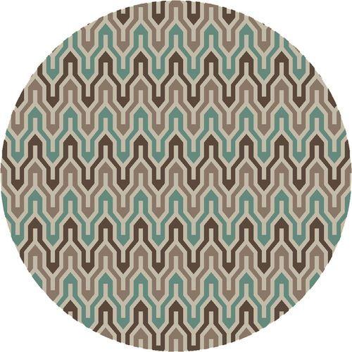 Fallon Emerald, Camel & Khaki Flat Pile Rug