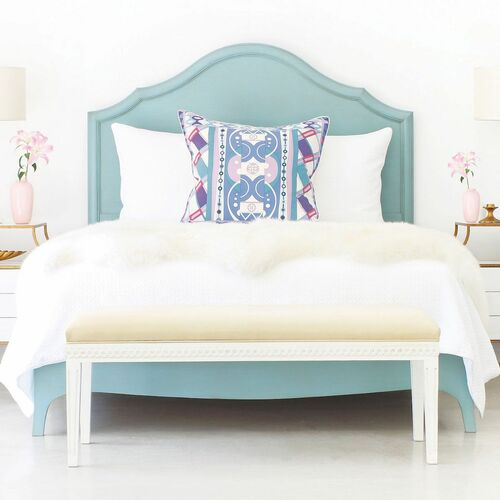 Fiona Bed Luxe with Wood Panel or Painted Cane