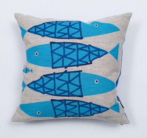 Fish Pillow Linen