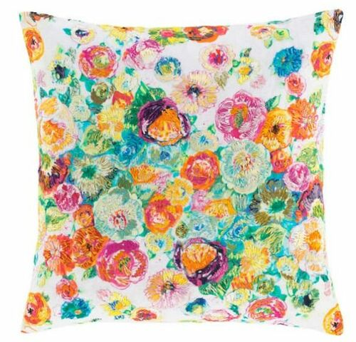 Flower Shower Embroidered Decorative Pillow <font color=a8bb35> 20% OFF</font>