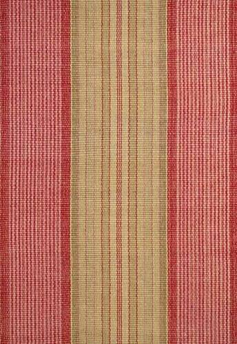 Framboise Ticking Cotton Rug