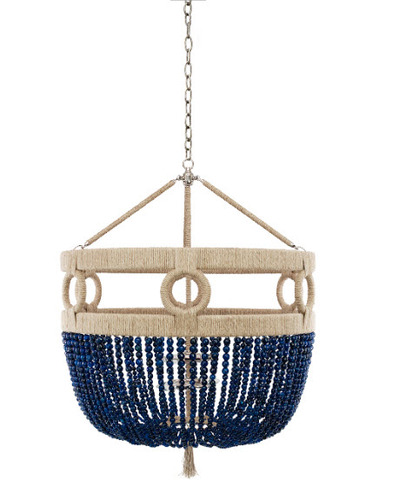 Frankie Malibu Beaded 30 Chandelier