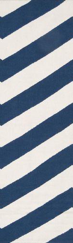 Frontier Dark Blue/White Flat Pile Rug