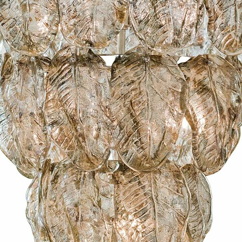 Glass Leaves Chandelier