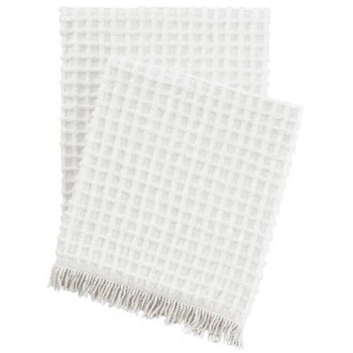 Gridwick Dove White Throw
