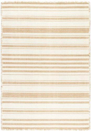 Hampshire Stripe Wheat Woven Cotton Rug