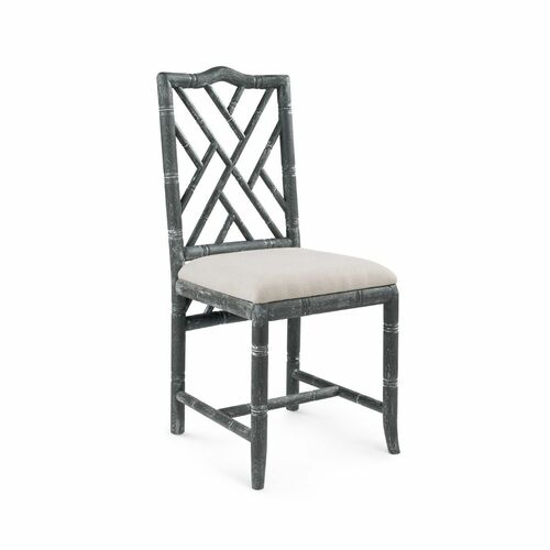 Hamptons Side Chair In Limed Gray For Sale Cottage