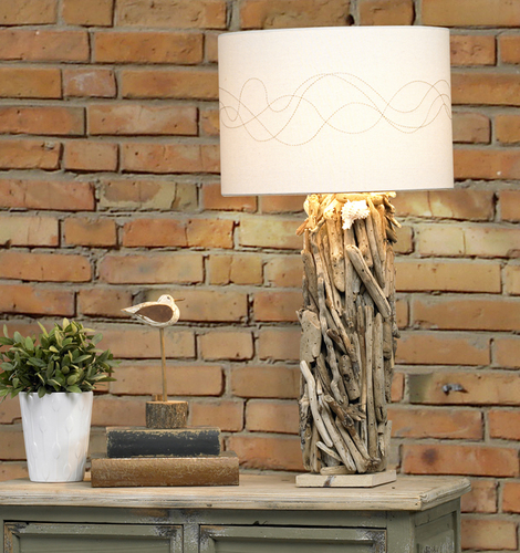 Hand-crafted Driftwood Table Lamp