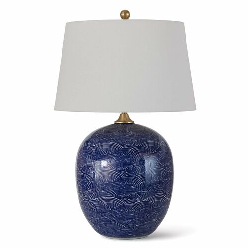 Harbor Ceramic Table Lamp Blue