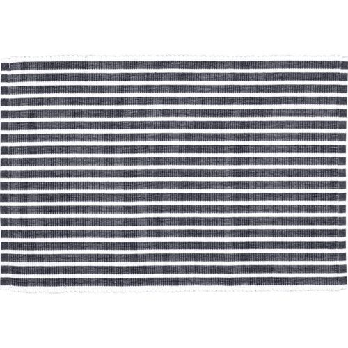 Harmony Ribbed Navy Placemat Set of 6