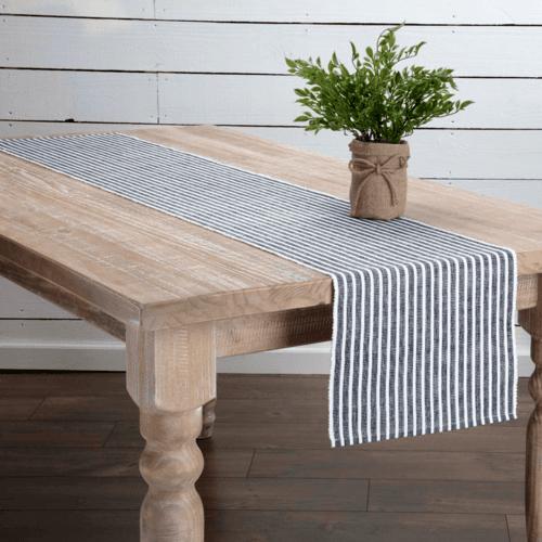 Harmony Ribbed Navy Table Runner