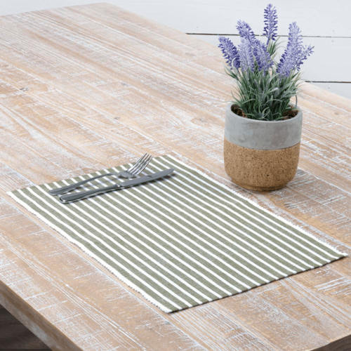 Harmony Ribbed Olive Green Placemat Set of 6 * Sold out
