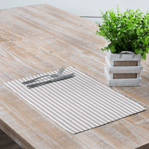 Harmony Ribbed Taupe Placemat Set of 6