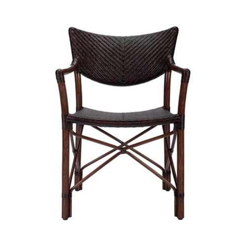 Henny Rattan Woven Arm Chair in Two Colors
