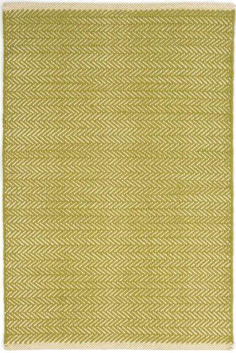 Herringbone Citrus Cotton Woven Rug