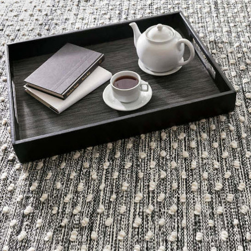 Hobnail Black Indoor-Outdoor Rug