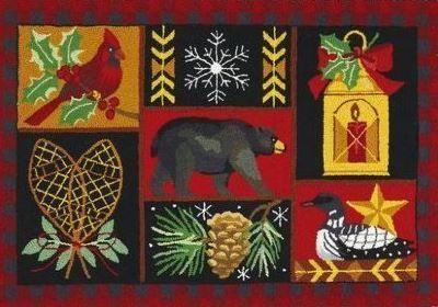Holiday Lodge Indoor Christmas Doormat