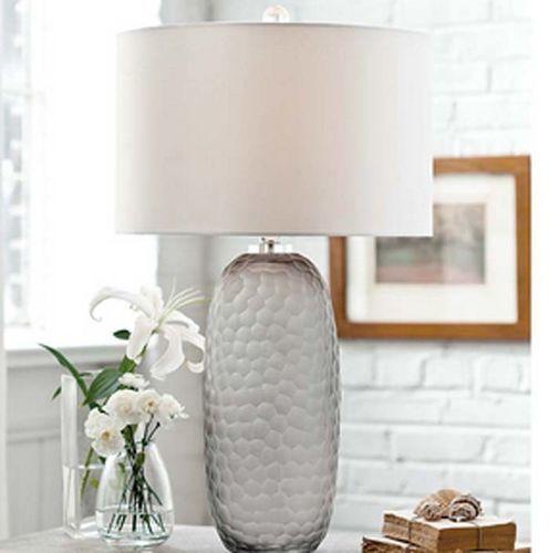 Honeycomb Smoked Glass Lamp