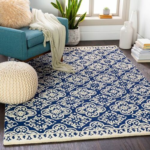 Izmir Navy Blue Hand Tufted Rug