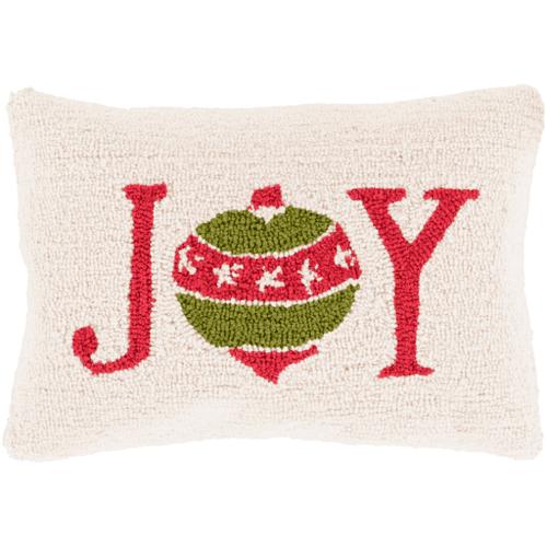 Joy Hooked Holiday Pillow