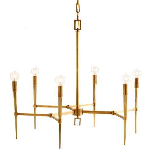 Jupiter Island Antique Brass Chandelier