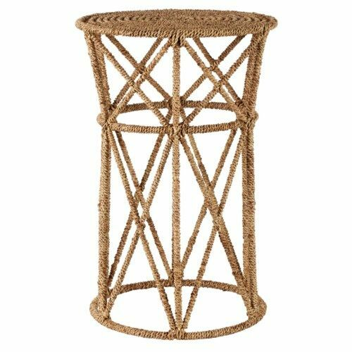 Jute Buoy Side Table in Natural <font color=a8bb35>NEW</font>
