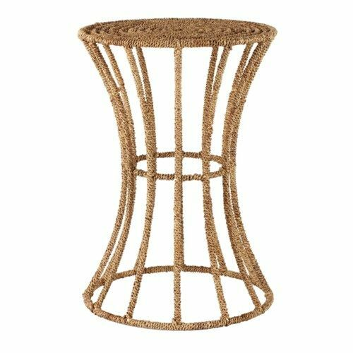 Jute Spool Side Table in Natural <font color=a8bb35>NEW</font>
