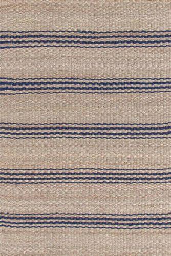 Jute Ticking Indigo Woven Rug