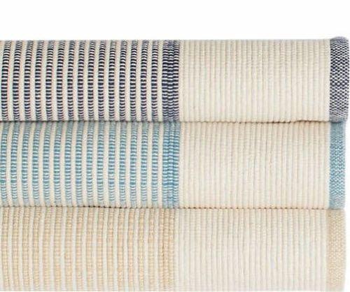 La Mirada Wheat Woven Cotton Rug <font color=a8bb25>NEW</font>